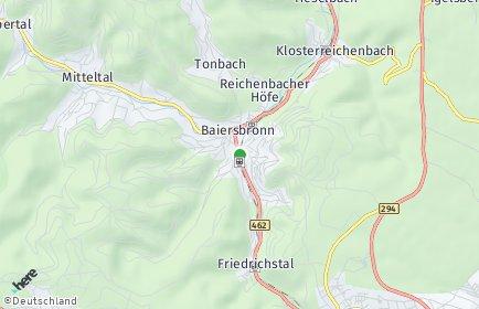 Stadtplan Baiersbronn