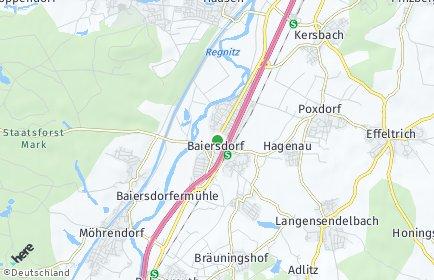 Stadtplan Baiersdorf