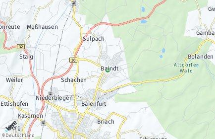 Stadtplan Baindt