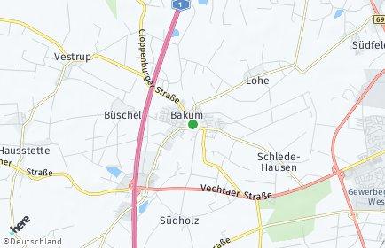 Stadtplan Bakum