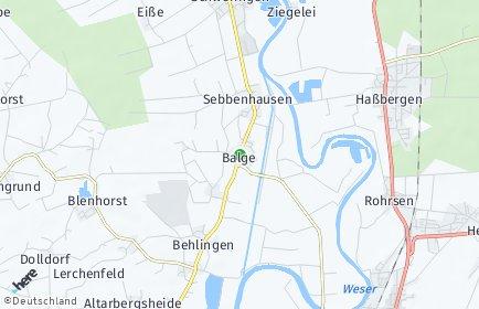 Stadtplan Balge
