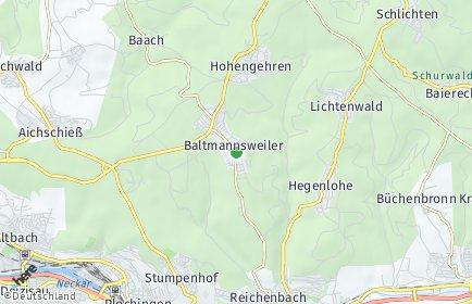 Stadtplan Baltmannsweiler