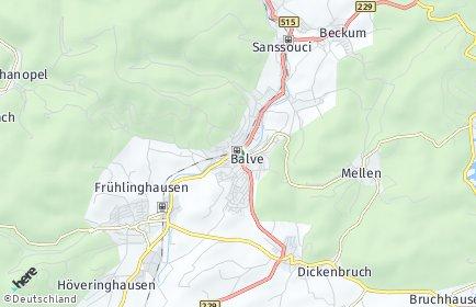 Stadtplan Balve