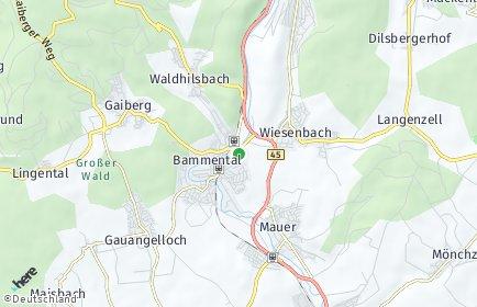 Stadtplan Bammental