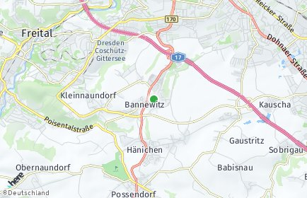 Stadtplan Bannewitz