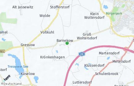 Stadtplan Barnekow