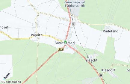 Stadtplan Baruth/Mark