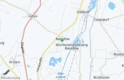Stadtplan Basedow (Lauenburg)