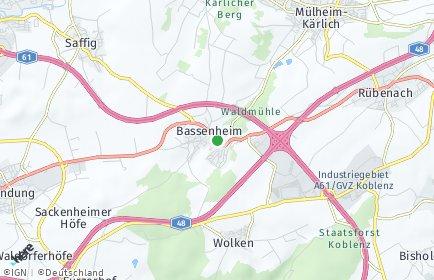 Stadtplan Bassenheim