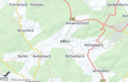 Stadtplan Bauler (Kreis Ahrweiler)