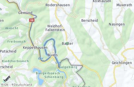 Stadtplan Bauler bei Neuerburg