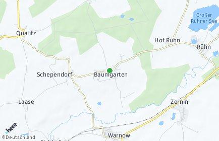 Stadtplan Baumgarten (Warnow)