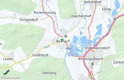 Stadtplan Baunach OT Daschendorf