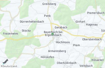 Stadtplan Bayerbach bei Ergoldsbach