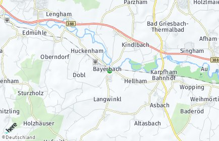 Stadtplan Bayerbach (Rottal-Inn)
