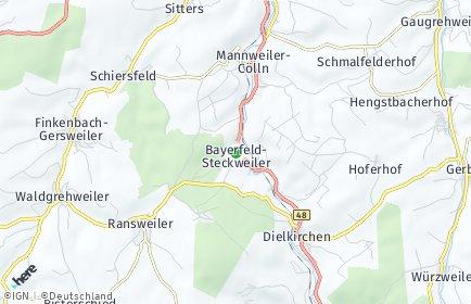 Stadtplan Bayerfeld-Steckweiler