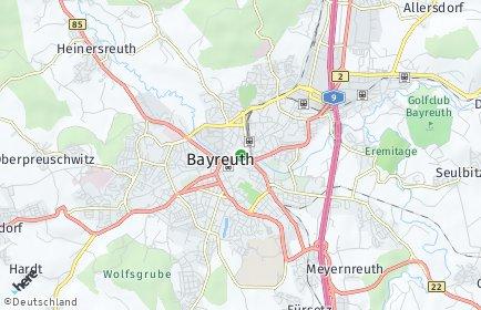 Stadtplan Bayreuth OT Unterpreuschwitz