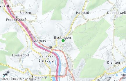 Stadtplan Beckingen