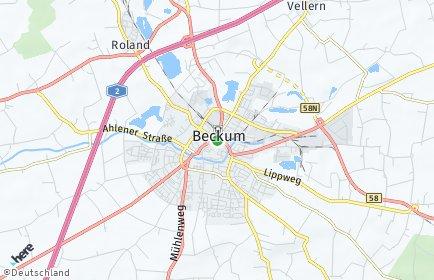 Stadtplan Beckum