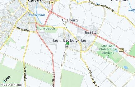 Stadtplan Bedburg-Hau