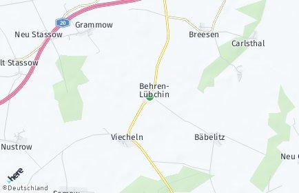 Stadtplan Behren-Lübchin