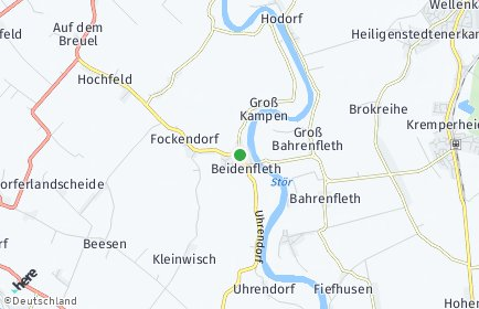 Stadtplan Beidenfleth