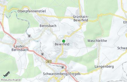 Stadtplan Grünhain-Beierfeld