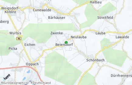 Stadtplan Beiersdorf