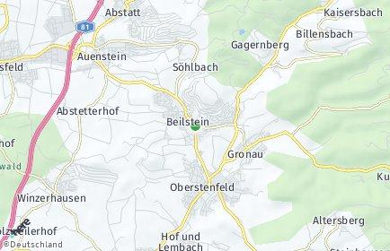 Stadtplan Beilstein (Württemberg)