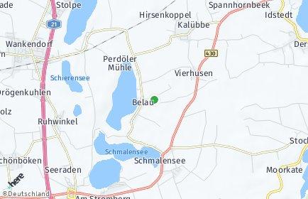 Stadtplan Belau bei Wankendorf