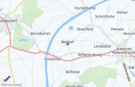 Stadtplan Beldorf