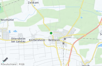 Stadtplan Bellheim