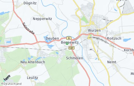 Stadtplan Bennewitz