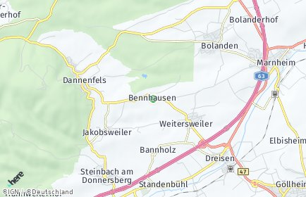Stadtplan Bennhausen