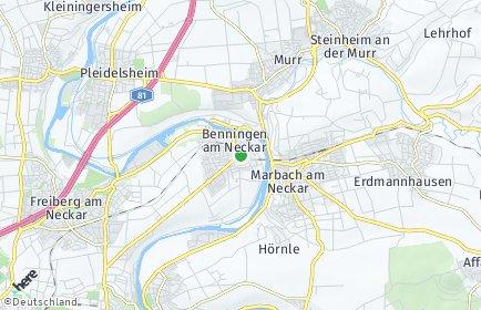 Stadtplan Benningen am Neckar
