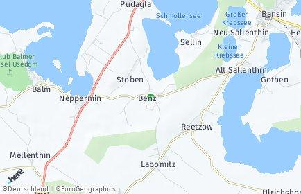 Stadtplan Benz (Usedom)