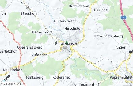 Stadtplan Beratzhausen