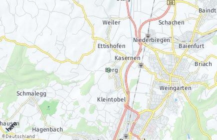Stadtplan Berg (Schussental)