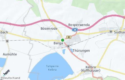 Stadtplan Berga (Kyffhäuser)