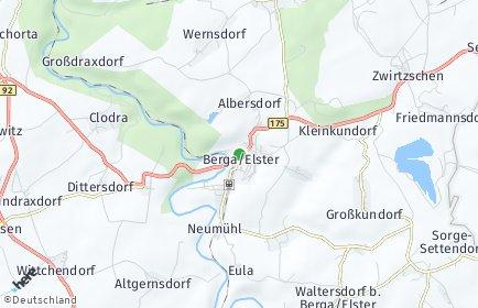 Stadtplan Berga/Elster