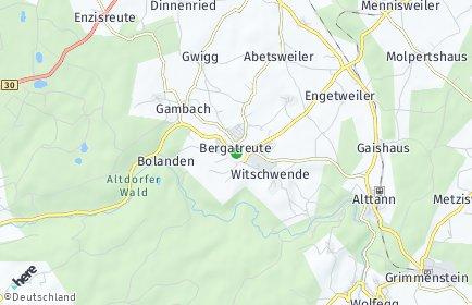Stadtplan Bergatreute