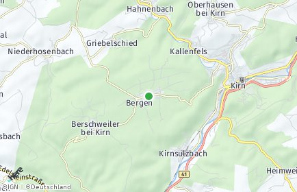 Stadtplan Bergen bei Kirn
