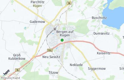 Stadtplan Bergen auf Rügen