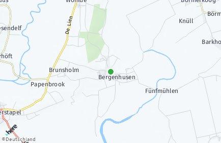 Stadtplan Bergenhusen