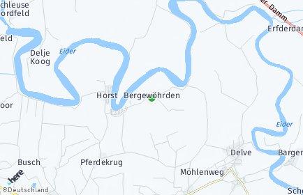Stadtplan Bergewöhrden