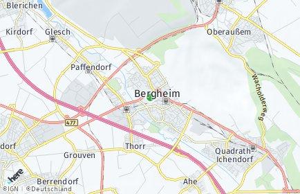 Stadtplan Bergheim