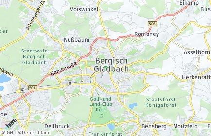 Stadtplan Bergisch Gladbach OT Kippekausen