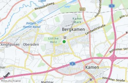 Stadtplan Bergkamen OT Overberge