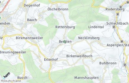 Stadtplan Berglen