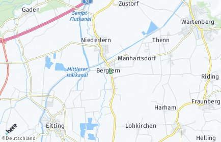 Stadtplan Berglern